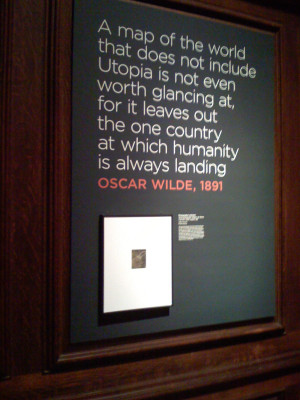 quote of the day utopia on the wilde side