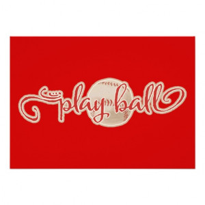RED PLAY BALL BASEBALL GRAPHICS SAYINGS WORDS TEAM CUSTOM ...