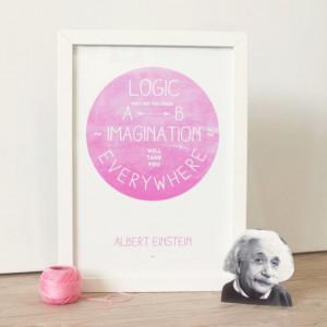 Famous Scientist Inspirational Quote Print - Einstein, Darwin, Galileo ...