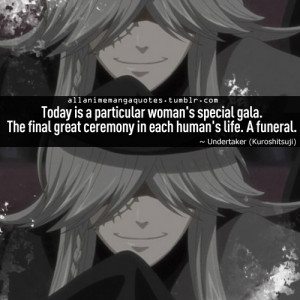 Black Butler Undertaker Quotes