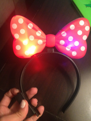 Catherine texted me this picture...she bought this light-up headband ...