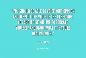 Voice Your Opinion Quotes