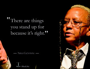 Inspiration quote from Nikki Giovanni