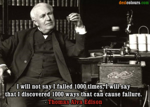 Picture of Thomas Alva Edison Quotes
