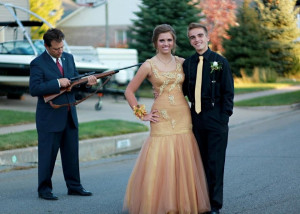 Funny: Overbearing Father Cleans Gun Before Daughter's Homecoming.