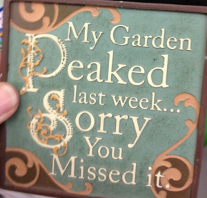 Cute garden sign at Ace Hardware
