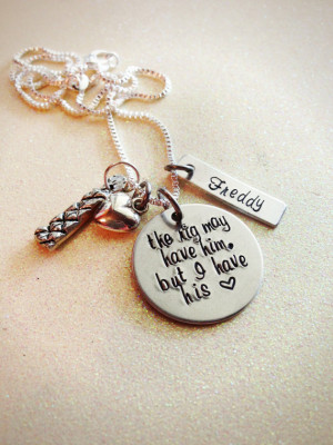 Custom Hand Stamped Oilfield Wife or Girlfriend Necklace