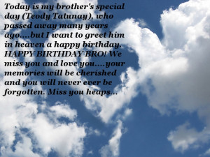 Greetings for my beloved brother
