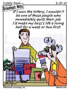 funny! (Only if you have a bad boss though!;) More