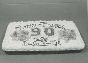 90th Birthday cake (1985)