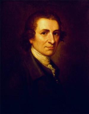 Thomas Paine, painting by Matthew Pratt in 1785-95