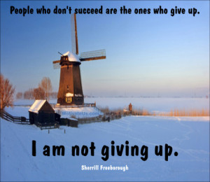 An inspiritional picture of windmill with the quote: People who don't ...