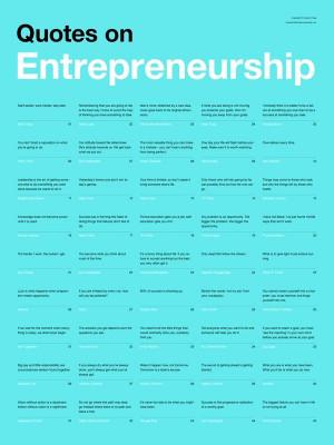 Quotes on Entrepreneurship Poster