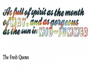 As full of spirit as the month of May and as gorgeous as the sun in ...