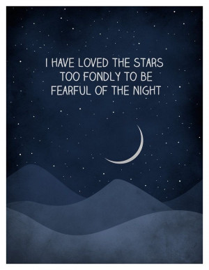 loved the stars too fondly quote art print, Universe Print, Astronomy ...