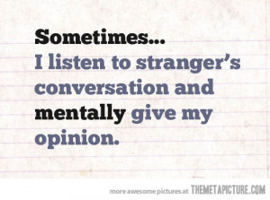 Funny photos funny strangers conversation quote