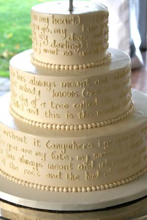 cake with quotes...unique!