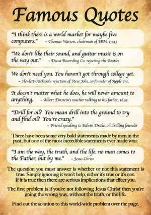 Famous Quotes A6 Gospel Tract