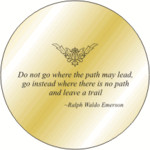 Solid Brass Engraved Pocket Compass: Emerson Quote I