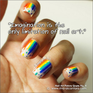 Nail art used for photo is Dripping Rainbow