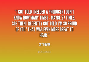 Cat Power Quotes
