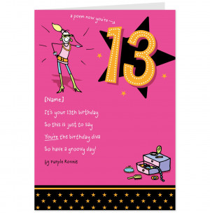 Posing Purple Ronnie 13th Birthday Card-Hallmark UK