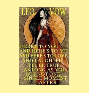 the leo vow earthlostangel jun 20 2011 totally leo