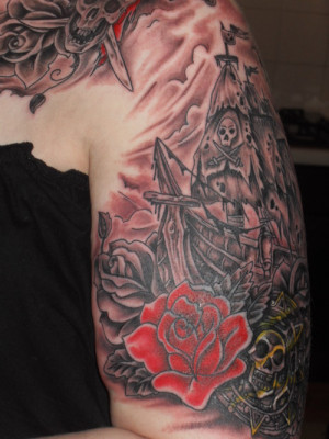 Cool Pirates Of The Caribbean Tattoo Sleeve Themed And picture