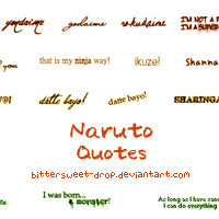Naruto Quotes Brushes by bittersweet-drop