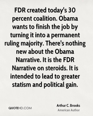 today's 30 percent coalition. Obama wants to finish the job by turning ...