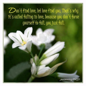 Love Quotes: Don't Find Love