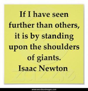 Isaac newton quotes