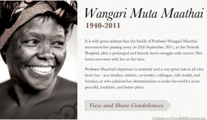 ETERNAL REVERENCEcultureofresistance:Wangari Maathai was the founder ...