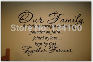 family/house rules/ quotes /saying/words Wall Decal Our Family Circle ...