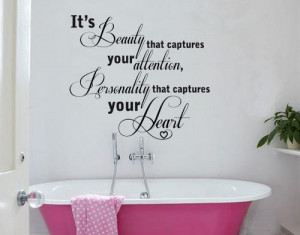Capture your heart Wall Art Quote Sticker Decal Vinyl Tattoo Decor ...