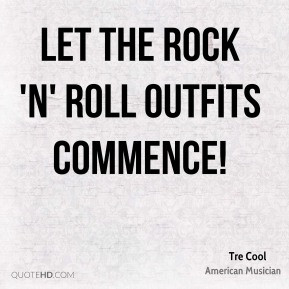 Tre Cool - Let the rock 'n' roll outfits commence!