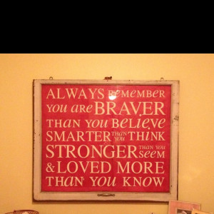 Inspirational Winnie the Pooh quote for my daughter's room on a ...