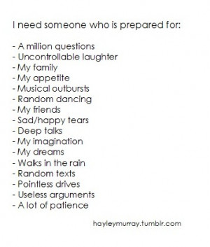 Need Someone Who Is Prepared