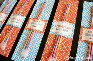 Glow Stick Fourth of July Party Favor Printable
