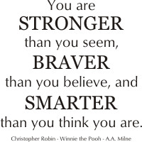 ... think you are. Christopher Robin Winnie the Pooh AA Milne vinyl quote