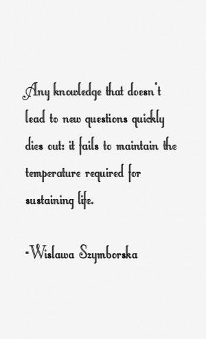 Wislawa Szymborska Quotes & Sayings