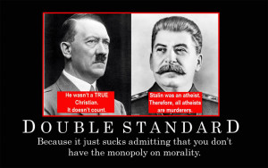 ... double standard image - Atheists, Agnostics, and Anti-theists of ModDB