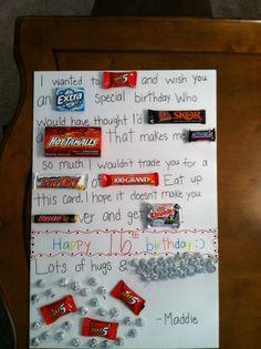 ... boyfriend card candy was easy to find more candy cards birthday quotes