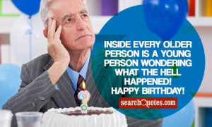 ... young person wondering what the hell happened! Happy 65th Birthday