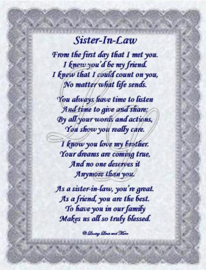 Sister-In-Law Poem Memories Tablet, Birthday Quotes For Niece, Poems ...