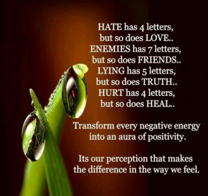 Turn negative into positive!!!