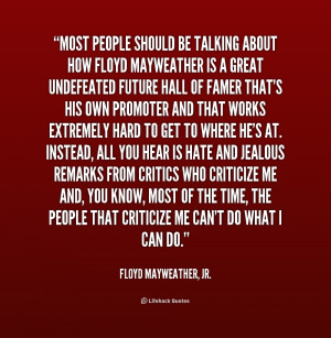 Floyd Mayweather Jr Quotes