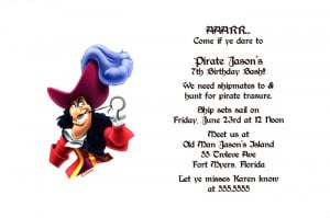 Peter Pan's Capt. Hook Party Invitation