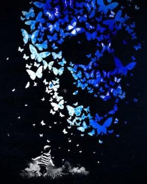 boy chasing butterflies dreams imagination creativity flying art ...
