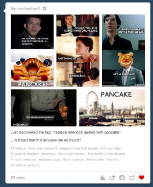 ... changing Sherlock quotes by using the word